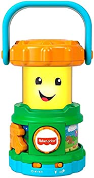 Fisher-Price Laugh & Learn Camping Fun Lantern musical toy with lights sounds and learning content for baby and toddler ages 6-36 months