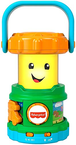 Fisher-Price Laugh & Learn Camping Fun Lantern, musical toy with lights, sounds and learning content for baby and toddler ages 6-36 months