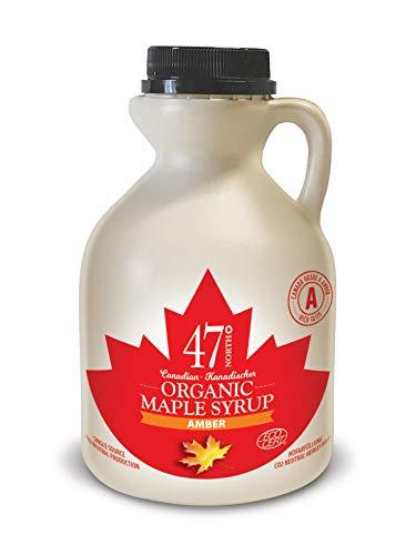 47 North Jarabe de arce orgánico canadiense, Single Source, Grade A, Amber Rich 500ml