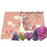 Be-Creative Juegos de regalo para bombas de baño, regalo hecho a mano, regalo de Navidad o cumpleaños (caja rectangular pequeña de unicornio)