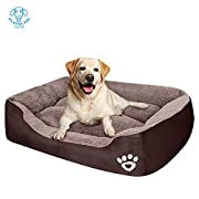 ☀COMFORT AND SECURITY: The medium dog bed's raised rim creates a sense of security and provides head and neck support, while the super-soft filling offers joint and muscle pain relief . ☀SIZE &COLOR: Dog beds for medium dogs measuring from outside of...