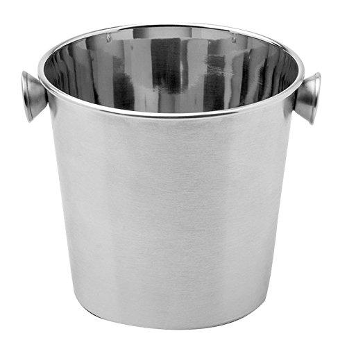 Weis Piccolo Cooler/emmer voor het opwarmen van drankjes, roestvrij staal zilver, 12 x 12 x 12 cm