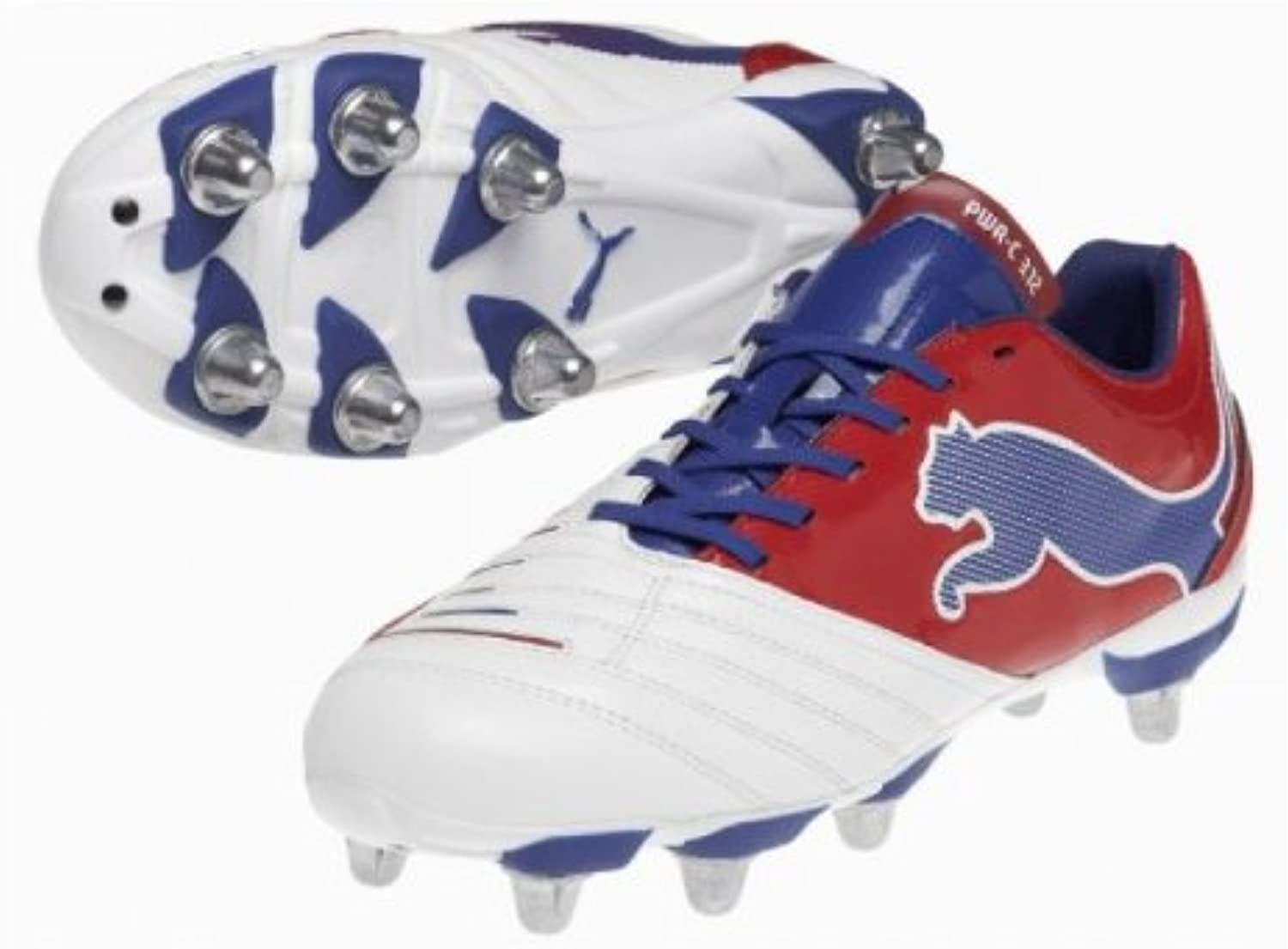 PowerCat 3.12 SG H8 Rugby Boots White Red Limoges