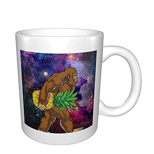 Bigfoot - Tazas de cerámica para café, té, cacao, taza de café grande con asa, taza de té para oficina y hogar, tazas de porcelana únicas regalo para hombres y mujeres