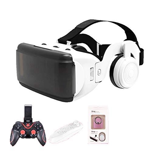 JYMYGS VR Brille, HD 3D Virtual Reality Brille, für 3D Film und Spiele, Geeignet 4,0-6,0 Zoll Smartphone Handy für iPhone SE 6/6s/7/8/X/XS, Samsung Galaxy S6/S7/S8/S9, Huawei p10/p20. N053JL