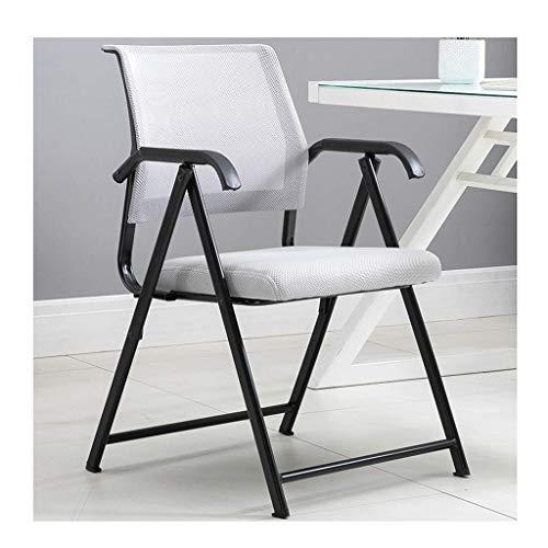 Poltrona da ufficio Sedia pieghevole Executive Mesh Chair per ufficio Computer Desk Sedia portatile in acciaio con telaio in ecopelle schienale sedie grigio