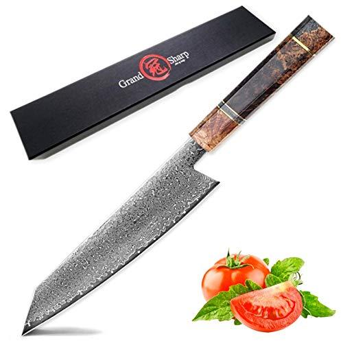 cuchillo de chef Cuchillo de cocina a mano Damasco japonés Chef Cuchillo VG10 japonés Damasco de acero Kiritsuke Cuchillos Herramientas para el hogar Cocinar Cortar New Cuchillo para cocinar