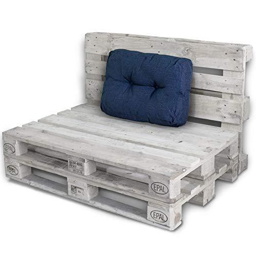 Palettenkissen Palettenauflagen Sitzkissen Rückenlehne Kissen Palette Polster Sofa Couch (Seitenteil, Blau)