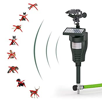 Hoont Cobra Animal Repeller   Outdoor Solar-Powered Motion-Activated Water Blaster with Powerful Jet Spray for Yard Lawn & Garden   Scare Away Deer Rabbits Squirrels Birds & Other Animals & Pests
