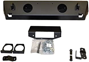 WARN 87650 Rock Crawler Stubby Front Bumper without Grille Guard Tube for Jeep Wrangler (2007-2017) and Wrangler JK (2018)