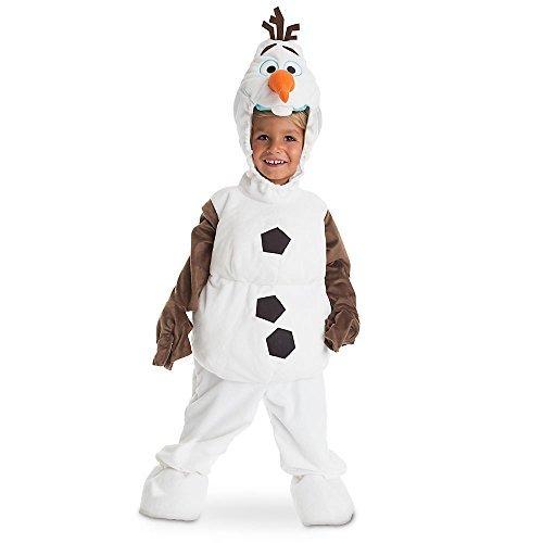 Disney Store - Disfraz de Olaf, muñeco de nieve Frozen – El Reino de hielo original para niño, niña, unisex, 4 años