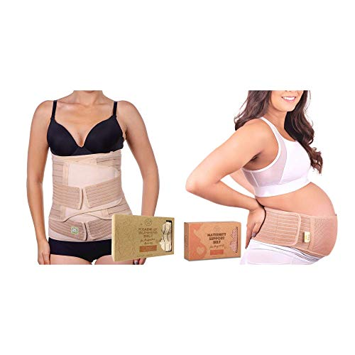 Maternity Pregnancy & Postpartum Belly Support Band for New Mothers - Postnatal Maternity Recovery Wrap Belt - Pregnancy Lower & Upper Back Support Belt