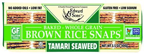 Edward amp Sons Brown Rice Snaps Tamari Seaweed 35 Ounce Packs Pack of 12