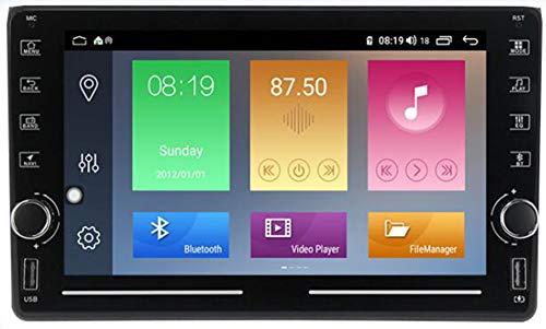 9' Android 9.0 1 DIN Radio Coche Bluetooth para Audi A4 2002-2008 Radio Coche Pantalla Tactil Soporte WiFi GPS USB FM Mirror-Link,4g+WiFi 4g+64g