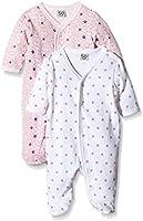 Care Pijama Bebé-Niñas, Pack de 2 Rosa (Light red 500) 2 mes