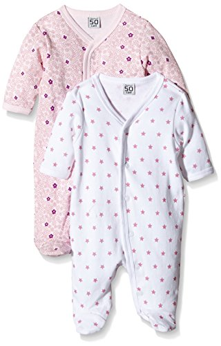 Care Pijama Bebé-Niñas, Pack de 2  Rosa (Light red 500) 2