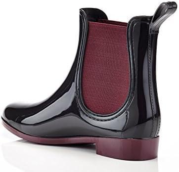 Henry Ferrera Women's Clarity Waterproof Ankle Rubber Rain Boots