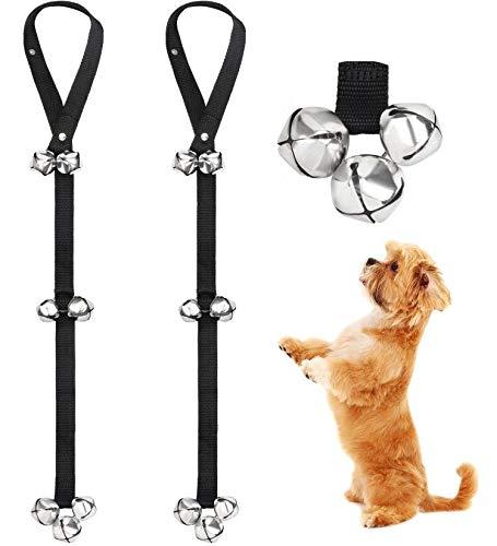 FOLKSMATE Dog Doorbells for Potty Training 2 Pack Potty Bells with 7 Extra Loud Bells Adjustable for Dog Training, Housebreaking