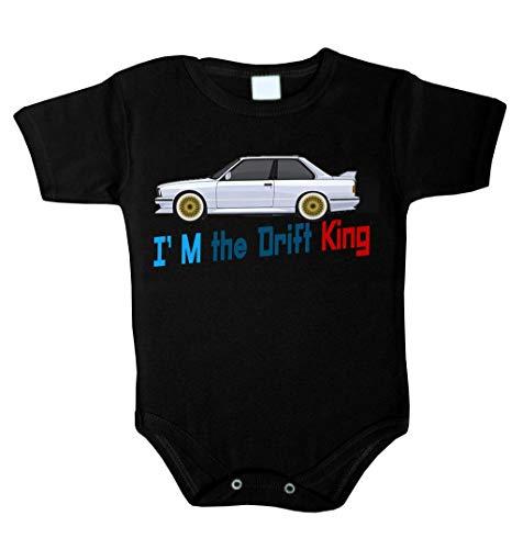 Body pour bébé I am the Drift King King Roi Grenouillère sous-vêtement fille - Noir - 74 cm (6-12 mois)