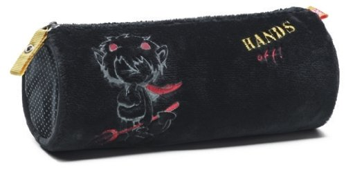 NICI 30156 - Mäppchen Teufel rund, 20 x 7,5 cm, Plüsch