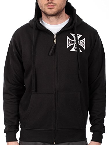 WEST COAST CHOPPERS WCC Hoodie Iron Cross Zipper schwarz-XXXXL