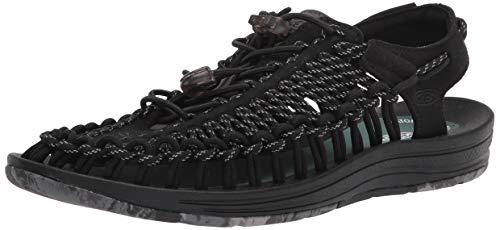 KEEN Men's Uneek Classic Two Cord Sandal, GRL Black, 14