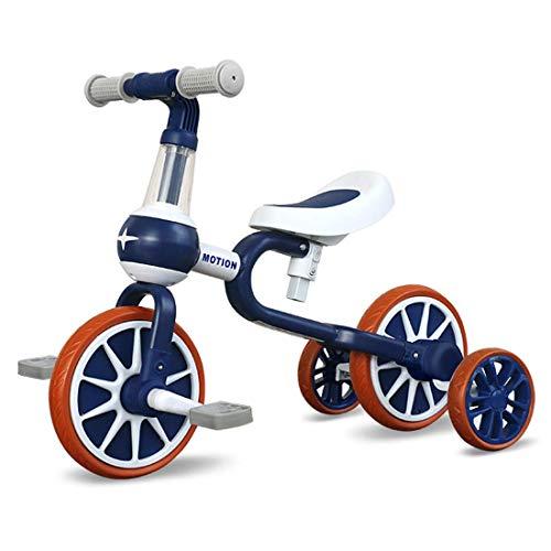 Zooma Bicicleta sin pedales para niños de 1 a 4 años de edad, con pedal extraíble y ruedas de apoyo, primera bicicleta para niños y niñas como regalo