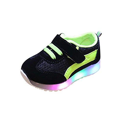 Babyschuhe,Kinder leuchtende Schuhe Jungen und Mädchen LED-Leuchten Schuhe Mesh atmungsaktive Sport,Binggong Baby LED Schuhe