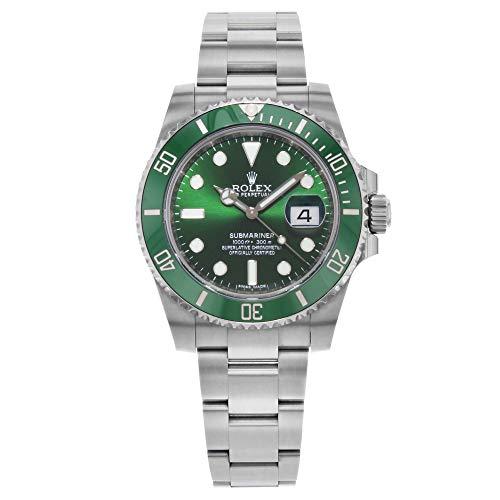 """Rolex Submariner """"Hulk"""" Green Dial Men's Luxury Watch M116610LV-0002"""