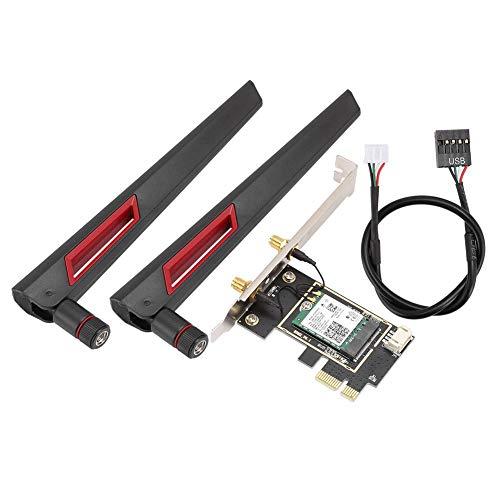 Tangxi 2947 Mbit/s PCI-E dual-band desktop netwerkkaart, chip voor Intel AX200 WiFi6 802.11ax dual-band 2,4 GHz/5 GHz desktop WLAN-netwerkkaart geïntegreerde Bluetooth 5.0 met 8 dB wifi-antenne