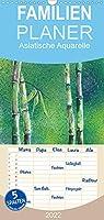 Asiatische Aquarelle - Familienplaner hoch (Wandkalender 2022 , 21 cm x 45 cm, hoch): Aquarellgemaelde mit asiatischen Motiven (Monatskalender, 14 Seiten )