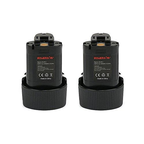 POWERAXIS Bl1013 2PCS 10.8V 1.5Ah Litio Batteria per Makita BL1014 194550-6 194551-4 195332-9 DF030DW DF030DWX DF330D TD090D TD090DWE TD090DWX TD090DWXW LCT203W