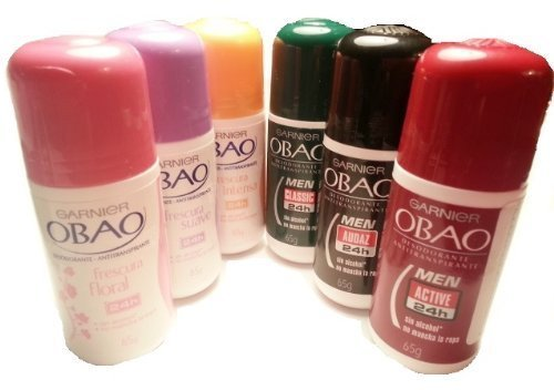 OBAO Assorted Deodorants - Men & Women 6 PC
