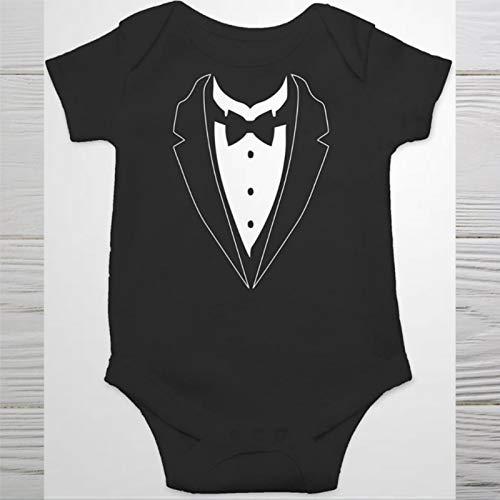 Mameluco de beb con lazo traje clsico para caballeros de una pieza mono de algodn suave con botn para bebs recin nacidos, nios y nias gateos