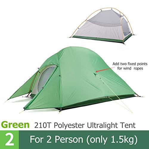 AOGUHN-tent - 2-persoonstent Camping Waterdichte tent Backpacken Picknick Wandelen Vissen Buiten Draagbare enkele tent met gratis mat
