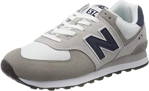 New Balance Herren 574v2 Sneaker, Grau (Grey/White Eag), 41.5 EU