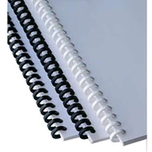 GBC 387357E ClickBind Binderücken, 16 mm, 145 Blatt Kapazität, A4, Ring 50, Schwarz