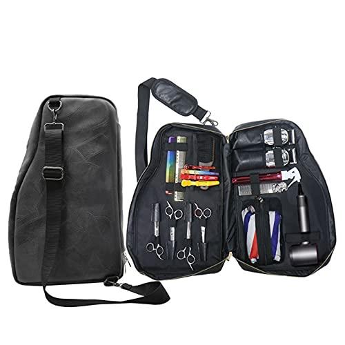 YSXCFH Friseurscherentasche Weiches Leder Friseurtasche Friseurschere Holster Friseur Werkzeugtasche für Kämme mit verstellbarem Schultergurt