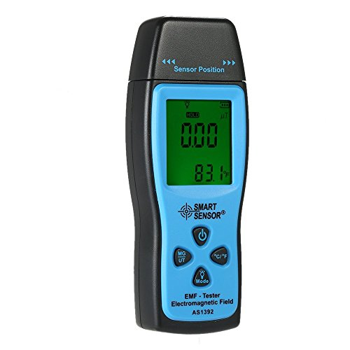 EMF Meter, Radiation Detector, Electromagnetic Field Tester with Power Supply: 3 x 1.5V AAA Battery (Included)