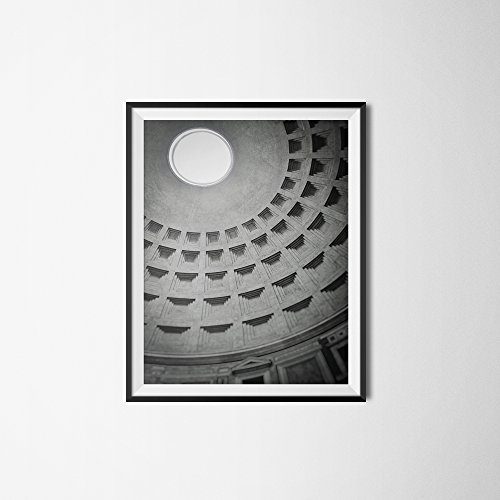 Pantheon, Rome Photography, Dome Print, Italy Travel Poster, Black and White, Architecture Fine Art, Italy Print, Italian Art, Rome Wall Art