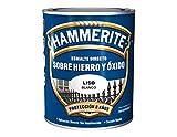Hammerite Esmalte directo sobre hierro y óxido Satinado Blanco 250 ml