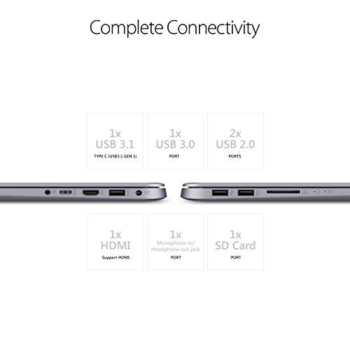 ASUS VivoBook F510UA Thin and Lightweight FHD WideView Laptop, 8th Gen Intel Core i5-8250U, 8GB DDR4 RAM, 128GB SSD+1TB HDD, USB Type-C, ASUS NanoEdge Display, Fingerprint Reader, Windows 10