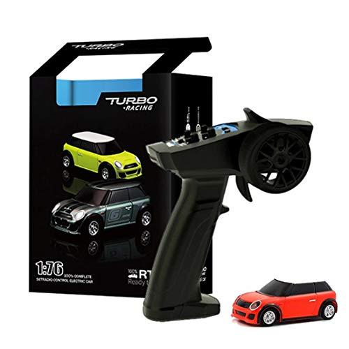 LMIITAM Turbo Racing - Coche eléctrico teledirigido (2,4 GHz, 1:76, con mando...