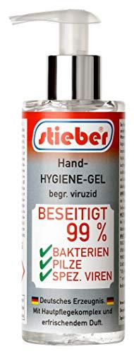 stieber® Handgel begr. viruzid Hände-Desinfektion (200 ml Pumpspender)