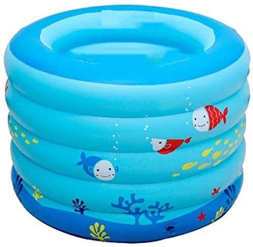 Zomer draagbare draagbare babybadkuip, opblaasbaar klein huiszwembad, baby-douchebak met zacht kussen centrale stoel, peuterlounge tuin decor buiten achtertuin