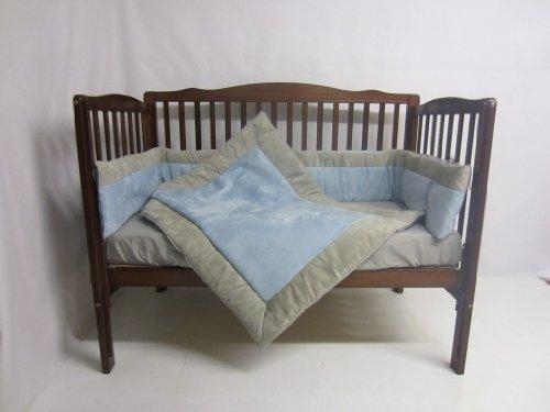 Find Discount Baby Doll Bedding Zuma 3 Piece Crib Bedding Set, Grey/Blue