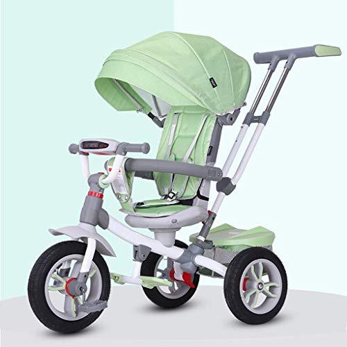 Triciclo Trike Triciclo triciclo, Rotación del asiento for niños 4-en-1 multi-propósito del triciclo, 1-6 bebé de los años al aire libre Triciclo con parasol, 3 colores, 95x60x45cm (color: azul)