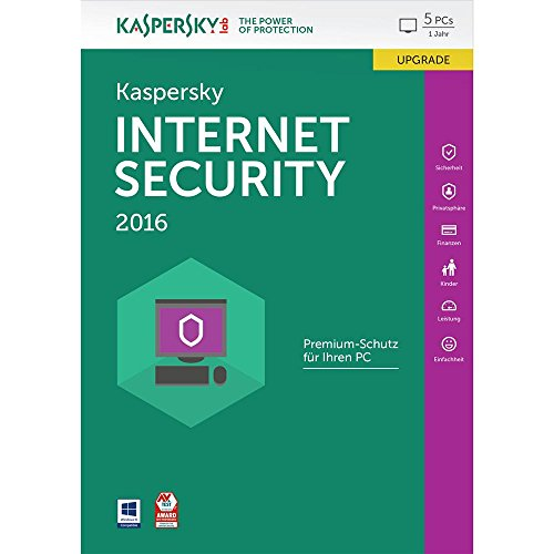 Kaspersky Internet Security 2016 Upgrade - 5 PCs / 1 Jahr (Frustfreie Verpackung) [import allemand]