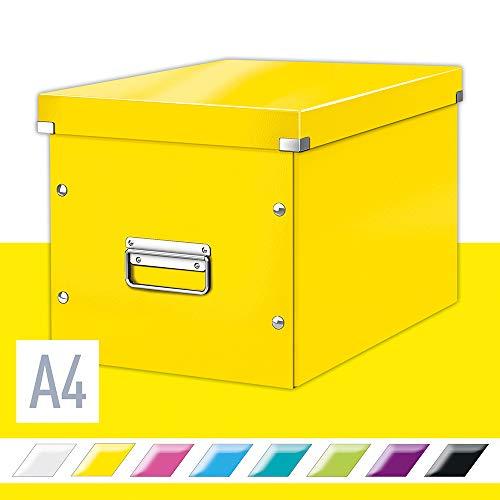 Leitz 61080016 opbergdoos, groot, kubusvorm, geel