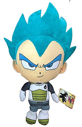 Peluche Vegeta Super Saiyan Pelo Azul Dragon Ball Super 36